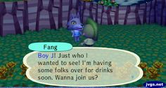 Fang invited me over for drinks.