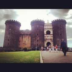Castel Nuovo (Maschio Angioino) in Napoli, Campania. Historic art now stored there