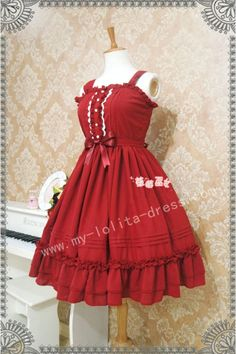 Strawberry Witch Classic Lolita Jumper Dress $43.99-Cotton Lolita Dresses - My Lolita Dress