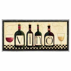 """A perfect finishing touch to your dining room or kitchen, this charming wall decor features a wine-themed motif with a typographic accent.  Product: Wall decorConstruction Material: Engineered woodFeatures:  Hand-finished edgesReady to hangMade in the USA Dimensions: 7"""" H x 17"""" W x 0.5"""" D"""