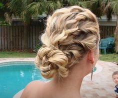 My senior prom hair