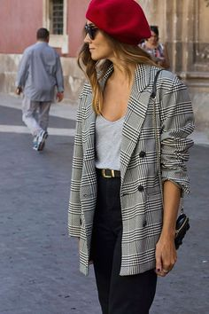 52 Adorable Winter Outfit Ideas with Blazer 2018 and Style # Blazer Outfits, Blazer Fashion, Casual Outfits, Fashion Outfits, Womens Fashion, Blazer Dress, Fashion 2018, Dress Outfits, Edgy Style