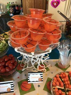 Sports Birthday, 2nd Birthday, Chocolate Fondue, Punch Bowls, Basketball, Desserts, Food, Second Anniversary, Tailgate Desserts