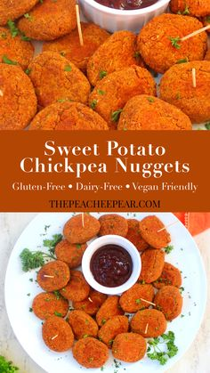 - Sweet Potato Chickpea Nuggets These Sweet Potato Chickpea Nuggets make for a great finger food for infants and toddlers. They're rich in nutrients essential for the growth and development of your little ones. Both sweet potatoes and chickpeas are loaded Vegan Dinner Recipes, Baby Food Recipes, Whole Food Recipes, Cooking Recipes, Finger Food Recipes, Health Food Recipes, Vegan Sweet Potato Recipes, Vegan Chickpea Recipes, Detox Recipes