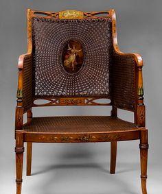 George III Satinwood Chair
