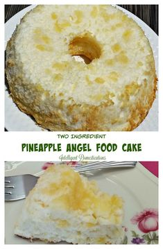This Two Ingredient Pineapple Angel Food Cake Recipe is so scrumptious, there won't be any leftovers.