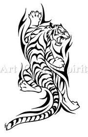 tiger black and white design... That would be a nice tattoo...