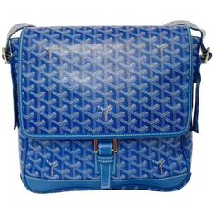 View this item and discover similar for sale at - Goyard Messenger Shoulder Bag is undeniably modern. Features Goyard's world renowned chevron print coated canvas in 'special' blue, Goyard Purse, Goyard Handbags, Blue Handbags, Goyard Luggage, Blue Shoulder Bags, Shoulder Strap Bag, Crossbody Shoulder Bag, Shoulder Handbags, Purse Crossbody