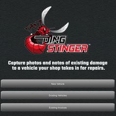 The Ding Stinger App is a state-of-the-art vehicle check-in tool. It allows automotive repair/service shops to capture photos and notes of existing damage to a vehicle taken in for repairs. The Ding Stinger 'stings the dings' that a customer may not have noticed on their car, protecting your business from fraudulent claims. Shops, Notes, App, Check, Business, Vehicles, Colorado Springs, Tents, Rolling Stock