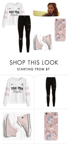 """Pink cat"" by maja-zmeskalova on Polyvore featuring Madewell, Emma Watson and Forever 21"
