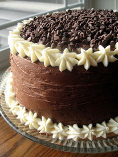 Chocolate Layer Cake with Cream Cheese Filling and Chocolate Buttercream....YUUUUMMMMYYYY!!!