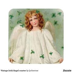 Vintage Irish Angel coaster