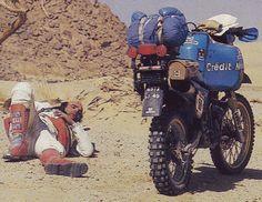 Jean-pierre PELIER Yamaha XT 600 #Dakar 1984.