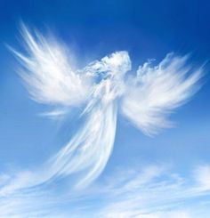 angel, clouds, and sky image Beautiful Sky, Beautiful World, Beautiful Gifts, Statue Ange, Angel Clouds, I Believe In Angels, Angel Pictures, Angels Among Us, Real Angels