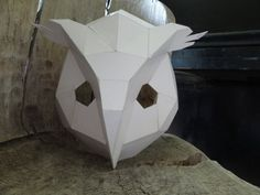 Make your own Owl mask, bird mask from cardboard, Instant Digital download, PDF templates