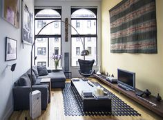 greenwich village loft living room - modern - living room - new york - kimberly peck architect