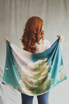 Dreaming of cloudy skies with this Desert Clouds Scarf.