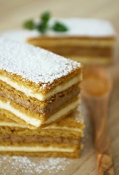 Medovnik - Honey Cake. I need to make this, I tried it at a New Years party one of hubs Russian friends made it. The layers of cake taste like graham cracker. It was so yummy!!