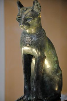 The sacred representation of the goddess Bastet - Bronze statue from Saqqara, Egypt (Late Period, after 600 BC) - also known as the Gayer-Anderson cat, after its donor to The British Museum.