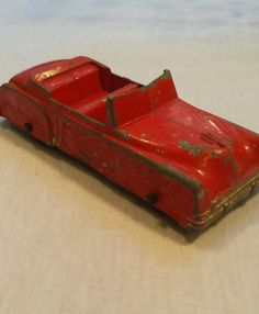 Tootsie Toy Red Convertible Car, Buick? Diecast Metal Made in the USA  #TootsieToy #convertible