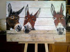 boerderijdieren schilderen op hout - Google zoeken Farm Paintings, Animal Paintings, Painting On Wood, Painting & Drawing, Barnyard Animals, Drawing Projects, Pallet Art, Naive Art, Art Party