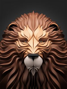 Predators prowl in these 3D-effect vector portraits | Graphic design | Creative Bloq