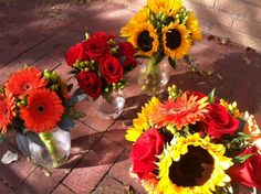 Summer themed wedding flowers created by Lexington Floral in Shoreview, Minnesota.    #wedding #weddingflowers