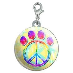 Paw Print Peace Sign Stainless Steel Pet Dog ID Tag >>> You can get additional details at the image link.
