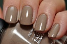 Sally Hansen - Complete Salon Manicure - Fedora. Nude micro glitter/shimmer! OPI - Under My Trenchcoat Dupe.