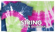 Learn how to make this project with the string-tie-dye-technique
