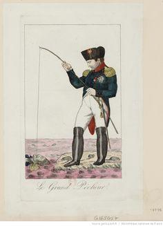 Caricature contre Napoléon I.er : [estampe] : L'Empereur pêchant à la ligne un cadavre