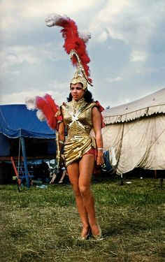Mardi Gras girl, 1952 (Looks more like a female Gladiator costume to me.)