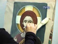 Byzantine Icons, Byzantine Art, Painting Process, Painting Videos, Religious Icons, Religious Art, Paint Icon, School Of Visual Arts, Orthodox Icons