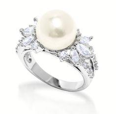 pearl wedding rings - Google Search