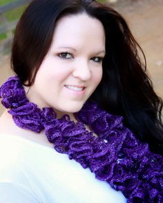 Purple Sashay Ruffle Scarf by prettylilpieces on Etsy, $15.00