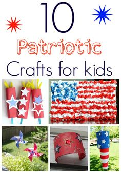 10 Patriotic Craft Ideas and Decor! DIY Party Activities for 4th of July, Labor Day, or Memorial Day!