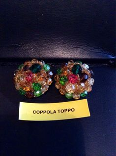 VERY RARE Coppola Toppo clip on Earrings. by KDeBijoux on Etsy https://www.etsy.com/listing/208132891/very-rare-coppola-toppo-clip-on-earrings