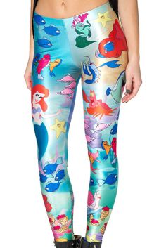 Black Milk Clothing Under The Sea Leggings M BNWT