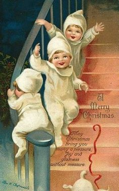 A Merry Christmas Vintage Greeting Cards