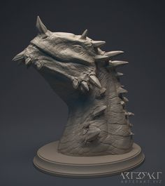 Astherion dragon bust, Winton Afric on ArtStation at https://www.artstation.com/artwork/ZqyOX
