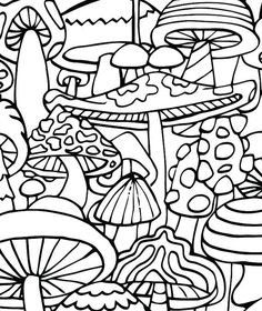 coloring pages - Adult Coloring Page Mushrooms Printable coloring page for adults Part of the Hippie Kitsch adult coloring book Printable Adult Coloring Pages, Coloring Pages To Print, Free Coloring Pages, Coloring Books, Fairy Coloring, Kids Coloring, Coloring Worksheets, Alphabet Worksheets, Mandala Coloring