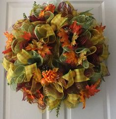 Hey, I found this really awesome Etsy listing at http://www.etsy.com/listing/156054152/beautiful-fall-door-wreath-deco-mesh