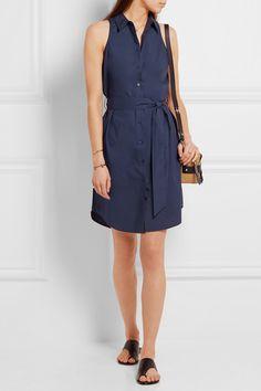 Equipment   Claudia belted cotton-poplin shirt dress   NET-A-PORTER.COM