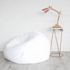 Fur Bean Bag - White Cloud