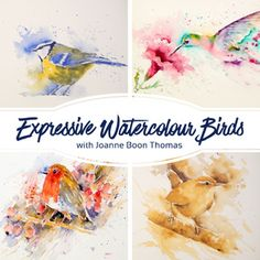 Learn how to paint this beautiful rendition of a line and wash cornflower using Joanne's characteristic loose watercolour style and a bamboo stick! Watercolor Bird, Watercolor Animals, Watercolour Painting, Watercolors, Monochromatic Paintings, Online Art School, Brusho, Walking In The Rain, Watercolour Tutorials