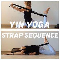 Yoga Yin Yoga Sequence with the incorporated use of a yoga strap!Yin Yoga Sequence with the incorporated use of a yoga strap! Yoga Yin, Yin Yoga Sequence, Sup Yoga, Yoga Sequences, Yoga Meditation, Restorative Yoga Sequence, Yin Yoga Poses, Yoga Iyengar, Ashtanga Yoga