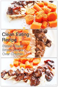 Enjoy simple healthy clean eating recipe cherry brown sauce over baked chicken http://www.bestcleaneatingrecipes.com/cleaneatingdinneridea-cherrybrownsauceoverchicken/ #cleaneating #healthyeating #healthydinner