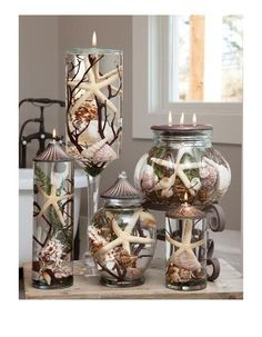 """Lifetime Oil Burning """"Seashell"""" Theme Candles from Crafty Yankee"""
