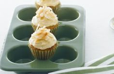 Hummingbird Muffins with Honey Frosting