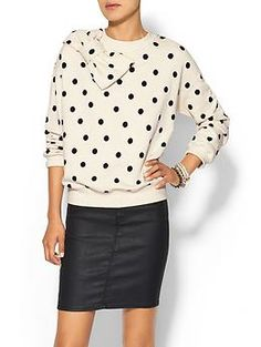 Kate Spade New York Deco Dot Bow Sweatshirt | Piperlime